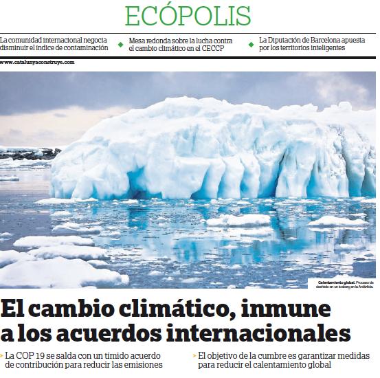 Ecópolis, Lucha contra el calentamiento global #COP19